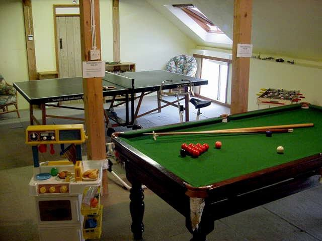 Self catering cottage games room